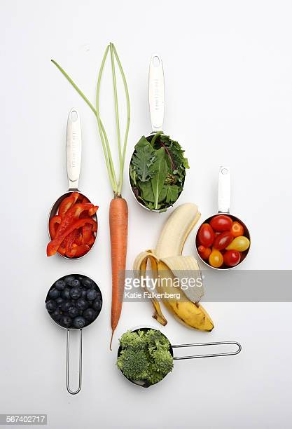 May 13 2014 Seven servings of fruits and vegetables photographed in the Los Angeles Times studio Not that most people are eating even five servings...