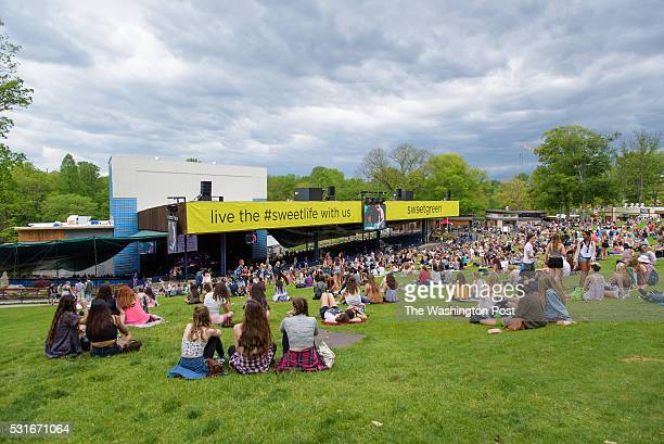 COLUMBIA MD May 14 2016 Fans gather under darkening skies at the 2016 Sweetlife Festival at Merriweather Post Pavilion in Columbia MD