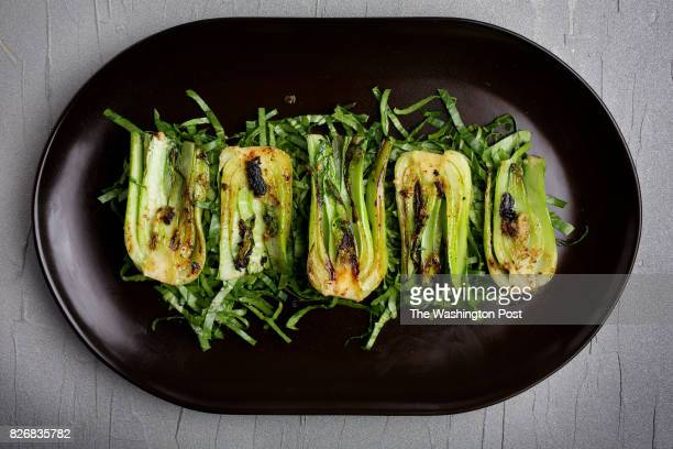 Grilled Baby Bok Choy With Miso Butter photographed on May 14 2014 in Washington DC