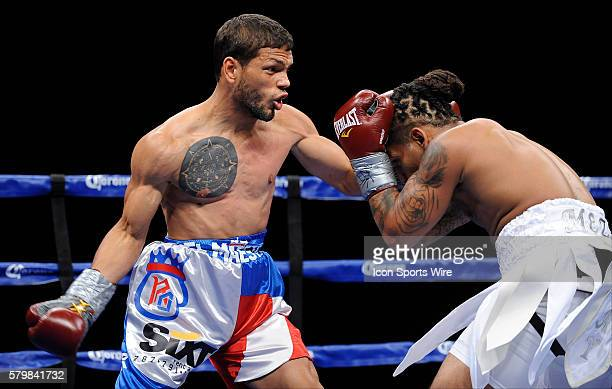 Reynaldo Ojeda remains undefeated via unanimous decision while in action against Monte MezaClay during a boxing match at the Connecticut Convention...