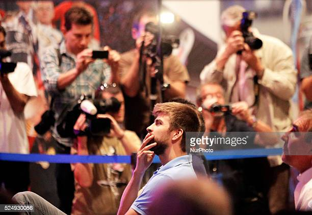 Gerard Pique in the Carles Puyol farewell ceremonyl held in the Auditorium 1899 of the FCB the May 15 2014 Photo Joan Valls/Urbanandsport/Nurphoto