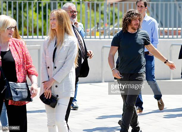 Vanessa Lorenzo wife of the FC Barcelona captain in the Carles Puyol farewell ceremonyl held in the Auditorium 1899 of the FCB the May 15 2014 Photo...