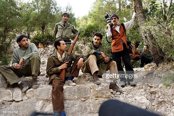 May 15th Algeria The photographer Reza attends the production of the movie Ahmed Zabana directed by Algerian Said OuldKhelifa and produced by Yacine...