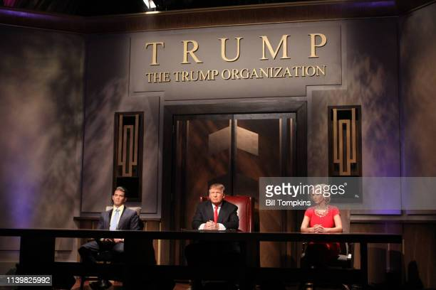 May 16 2010 ]: Donald Trump Jr, Donald Trump and Ivanka Trump during the filming of the live final tv episode of The Celebrity Apprentice on May 16...