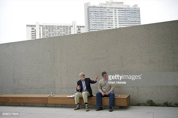 May 16, 2012 - Philadelphia, PA, U.S - LAURIE OLIN, the landscape architect of The Barnes Foundation, has lunch outdoors as the museum opens in its...