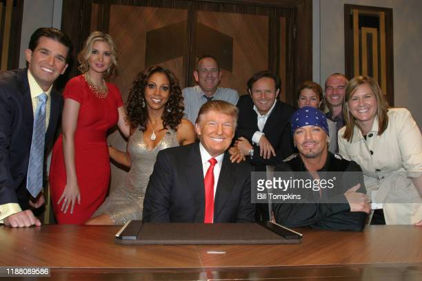 Bill Tompkins/Getty Images Donald Trump Jr, Ivanka Trump, Holly Robnson Peete, Donald Trump, Bret Michaels and Mark Burnett and others pose during...