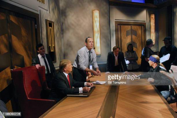 Bill Tompkins/Getty Images Donald Trump interacting with the Production staff during the Season Finale of The Celebrity Apprentice on May 16, 2010 in...