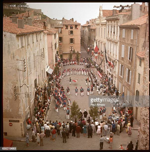 May 1618 townspeople of St Tropez celebrate the Bravade of St Tropez with processions and reenactments St Topez France