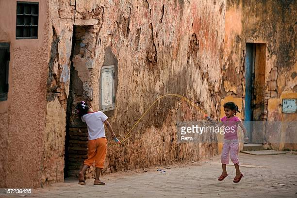 May 16th Algeria In the neighbourhood of Sidi Boumediene's mausoleum two little girls have turned the streets into their playground This is a...