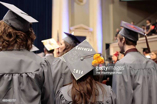 WASHINGTON DC May 17 A graduates displays a decorated cap during the Corcoran College of Art and Design Commencement ceremony held at DAR...