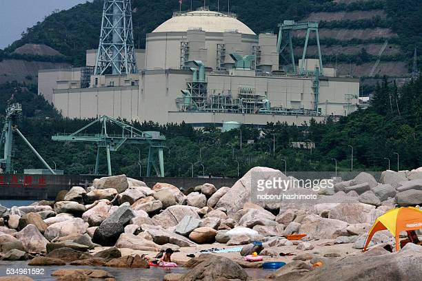 May 17/2013/Noboru Hashimoto/Tokyo/Japan Fast breeder type nuclear reactor Monjyu in Wakasa bay Fukuiprefucture WesternJapan caught the red light of...