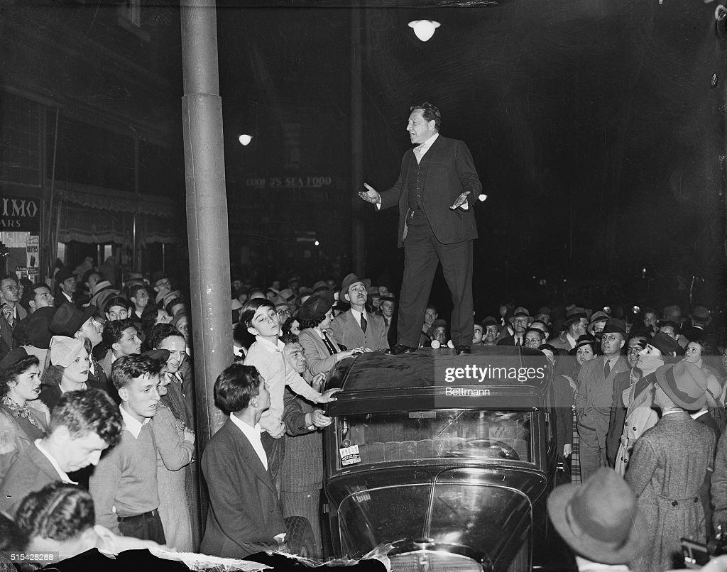 Arthur Garfield Hays Giving a Speech : News Photo
