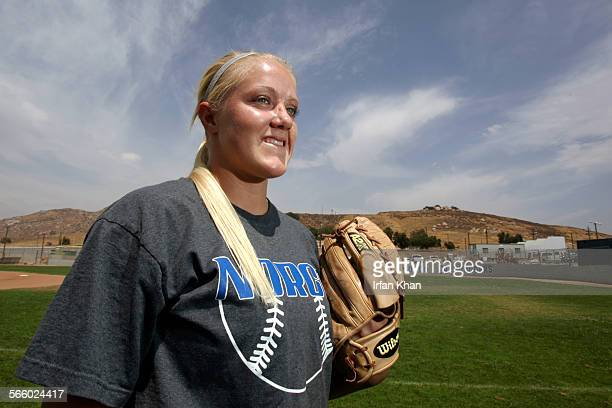 NORCO CA – May 18 2009 ––– Teagan Gerhart during a practice session at Norco High School Gerhart is arguably one of the best pitchers in the nation...