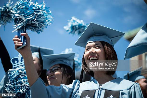 NEW YORK May 18 2016 Members of the graduating class of 2016 attend the Commencement ceremony of the 262nd Academic Year of Columbia University in...