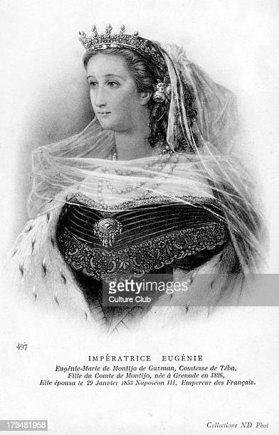 5 May 1826 – 11 July 1920 Caption reads 'MarieEugénie de Montijo de Guzman Countess of Teba daughter of the Comte de Montijo born in Granada in 1826...