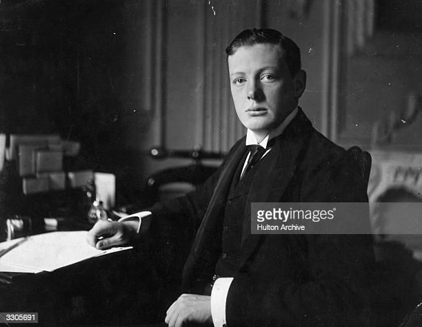 British statesman and writer Winston Churchill aged 26 Original Artist By Elliott Fry