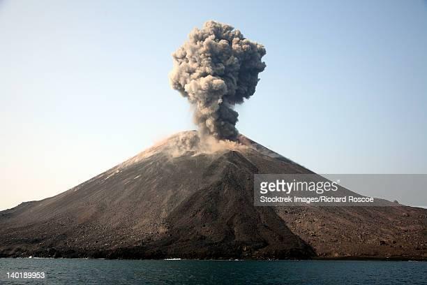 May 19, 2008 - Ash cloud from vulcanian eruption of Anak Krakatau volcano, Sunda Strait, Java, Indonesia.