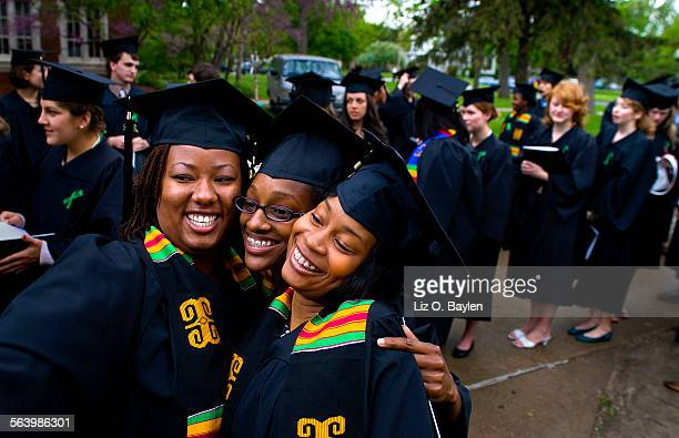 May 19, 2008 – Los Angeles posse members Jessica Starling and Nikisha Glenn along with their friend and fellow graduate Chevon Chatman capture the...