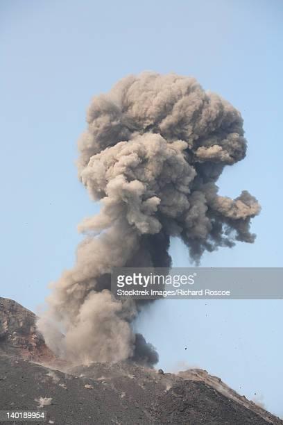 May 19, 2008 - Poodle-shaped Ash cloud from eruption of Anak Krakatau volcano, Sunda Strait, Java, Indonesia.