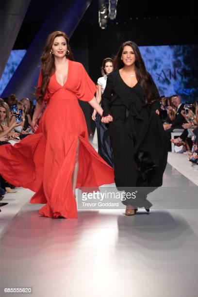 A model walks the runway during Designer Aiisha Ramadan's show at Arab Fashion Week Ready Couture Resort 2018 on May 18 2017 at Meydan in Dubai...