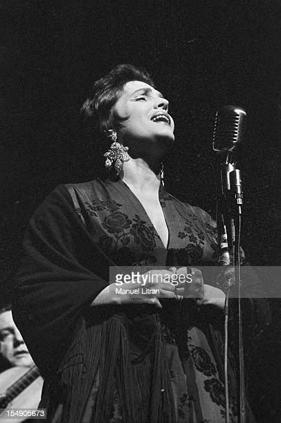 May 19 the Portuguese singer Amalia Rodrigues nicknamed the 'Queen of Fado' concert in the Olympia