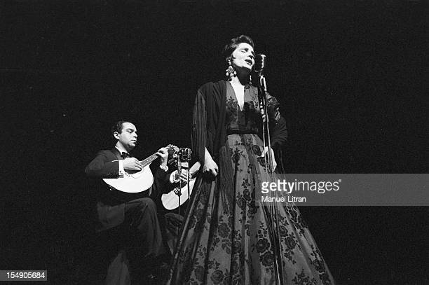 May 19 the Portuguese singer Amalia Rodrigues nicknamed the 'Queen of Fado' concert in the Olympia accompanied by a musician