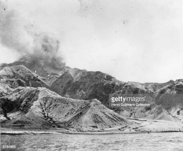Mount Pelee volcano on the island of Martinique French Antilles It erupted on 8 May killing around 30000 people and destroying the village of...