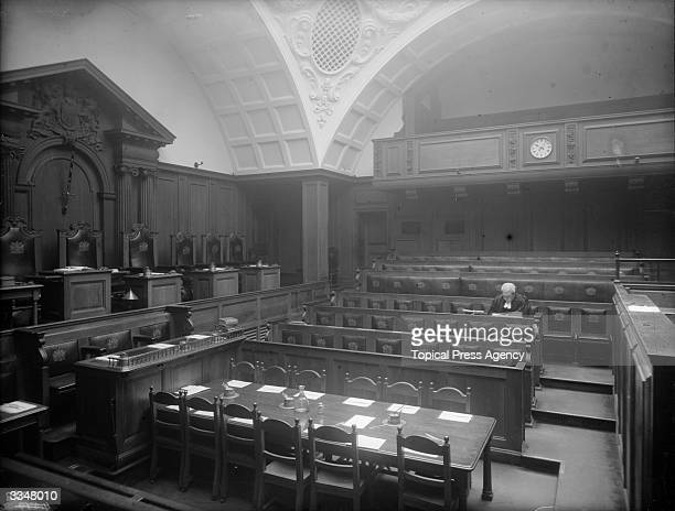 The interior of the Old Bailey criminal court in London