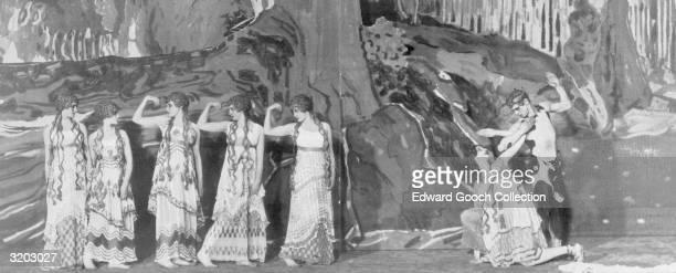 Vaslow Nijinsky as the faun, dances at the premiere of Ballet Russe' production of 'L'Apres-midi d'un Faune' at the Theatre du Chatelet in Paris. His...