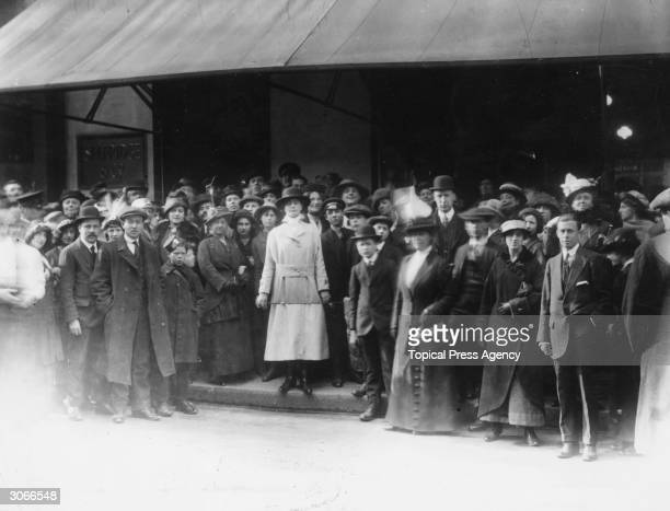 A group of doorkeepers outside Selfridges department store in London