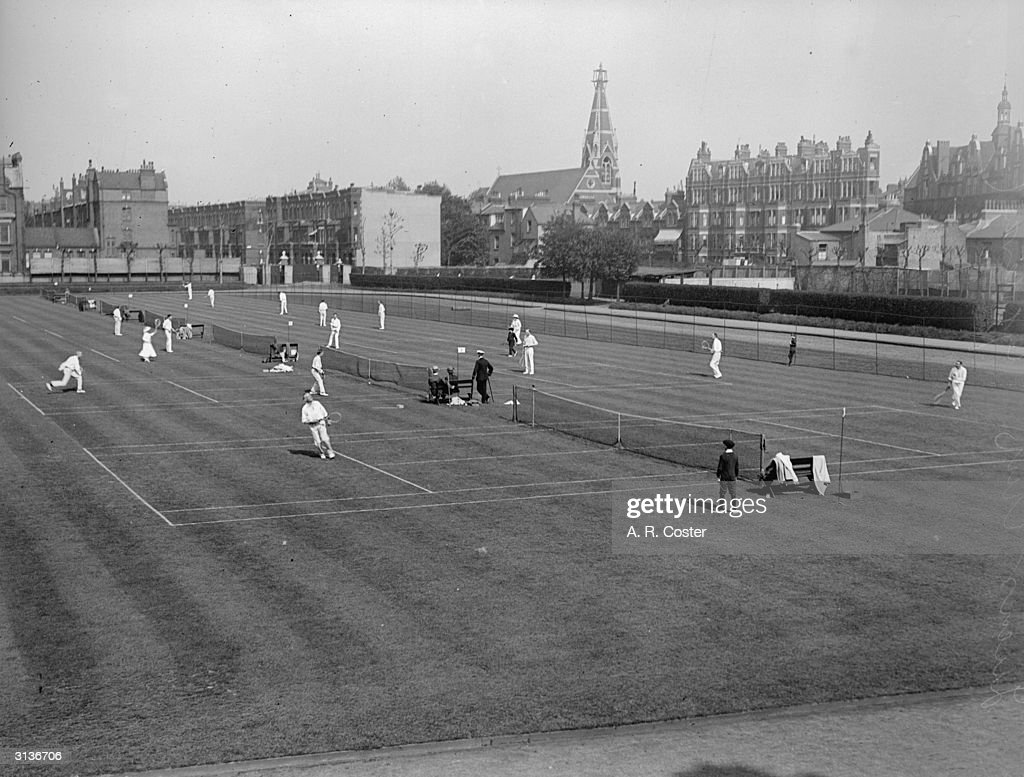 Tennis at Queen's Club open courts, London.