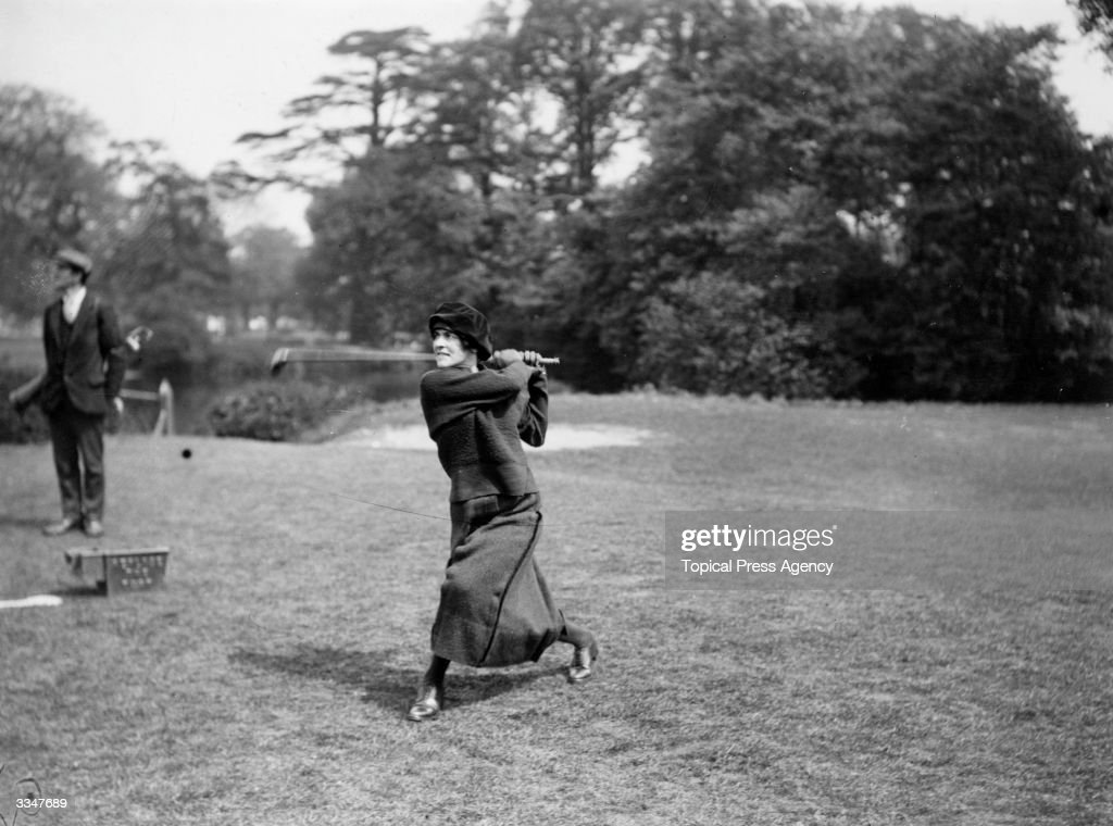 Mrs Bowles Tees Off : News Photo