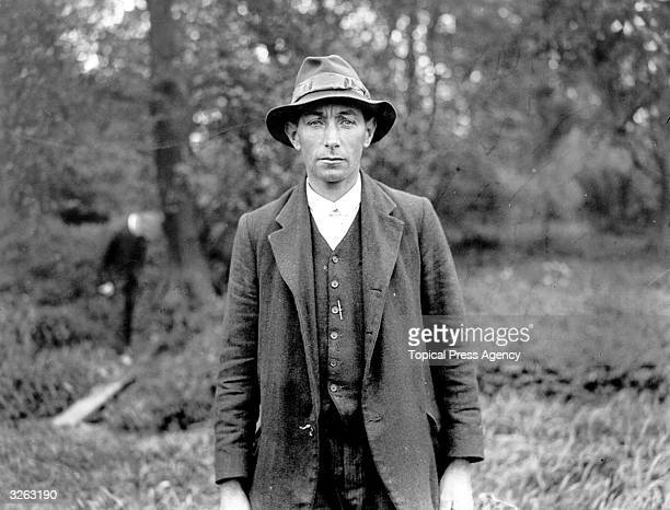 Fred Arnold a farm labourer who discovered the body of missing banker Mr Mounsey in Merstham Surrey