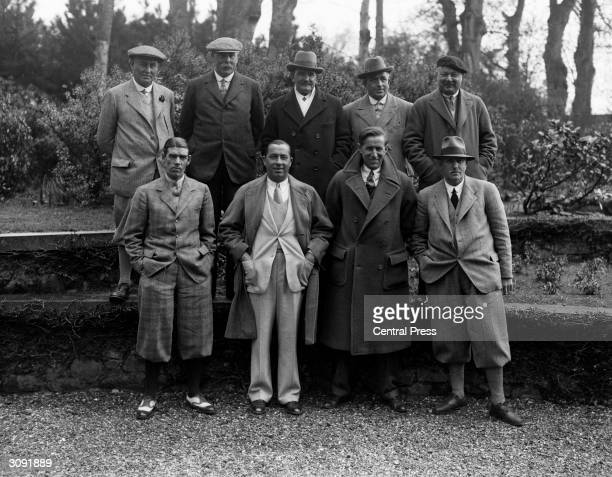 Past golfing champions and competitors at the Open Gold Championships at Muirfield Original Publication From left to right top row Harry Vardon James...