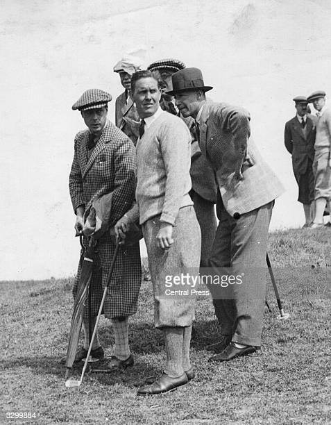 The Prince of Wales on the Royal Saint George's golf course, during the Walker Cup contest.