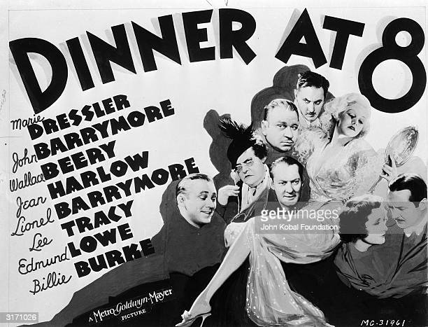 The poster for the MGM film 'Dinner at Eight' directed by George Cukor and starring the 'Blonde Bombshell' Jean Harlow