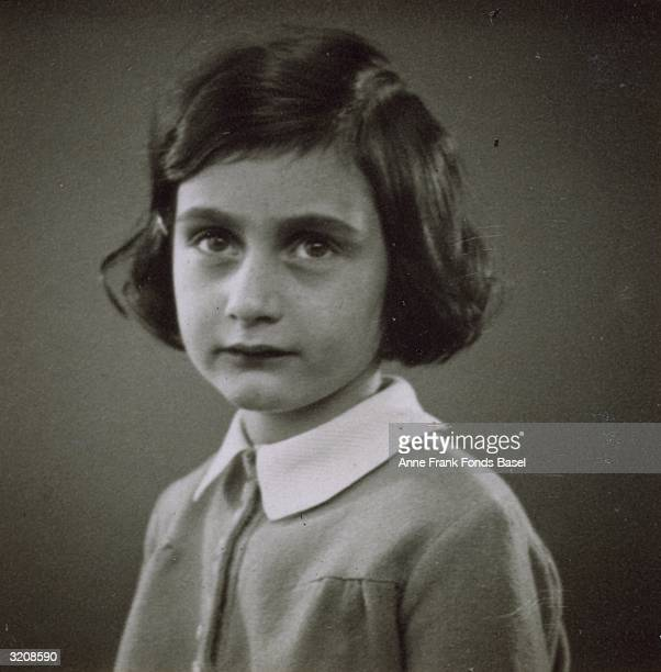 EXCLUSIVE Passport headshot of Anne Frank taken from her photo album Amsterdam Holland