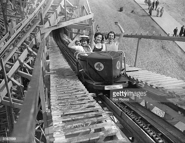 Holidaymakers on a fairground ride at Butlin's in Skegness