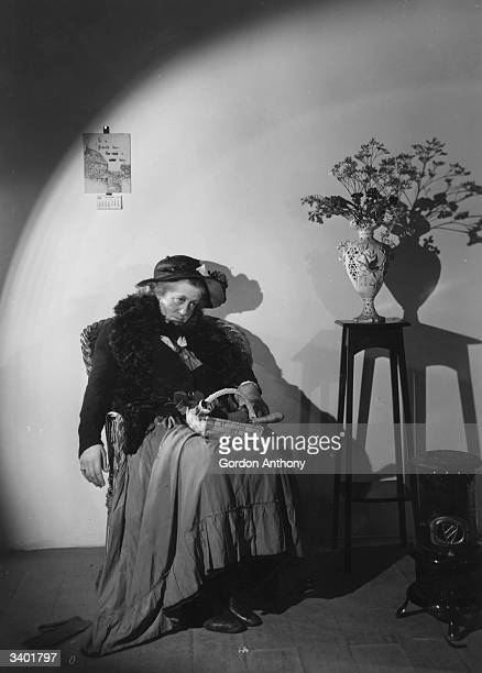 English actress Margaret Rutherford as Bijou Furse in the play 'Spring Meeting' at Ambassadors Theatre
