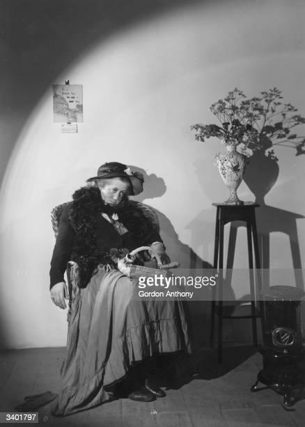 English actress, Margaret Rutherford , as Bijou Furse, in the play, 'Spring Meeting', at Ambassadors Theatre.