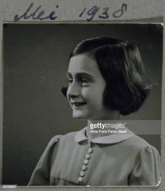 EXCLUSIVE A profile portrait of Anne Frank smiling From Anne Frank's photo album