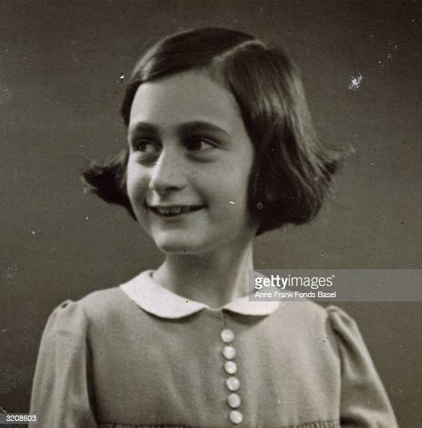 EXCLUSIVE Passport photo of Anne Frank looking to her right taken from her photo album Amsterdam Holland