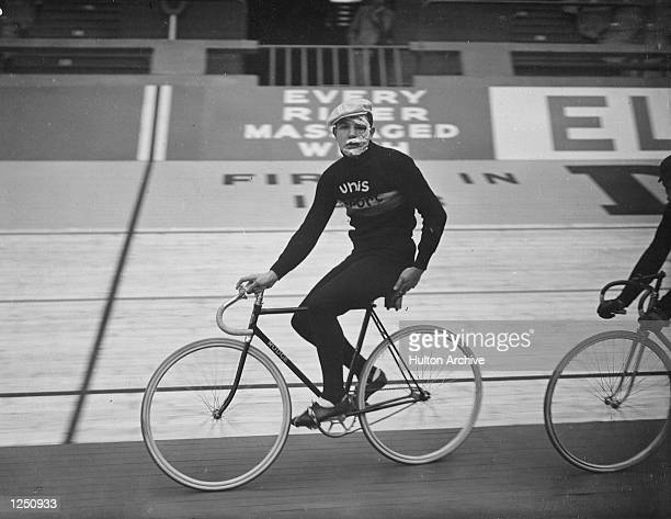 International Six Day Cycle Race at Wembley Cyclist Robert Naeye of Belgium who was injured during the sprints Mandatory Credit Allsport...