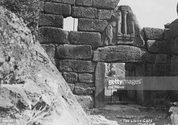 The Lion Gate at Mycenae home of King Agamemnon and the Achaeans of Homer's Iliad finally destroyed around 468 BC
