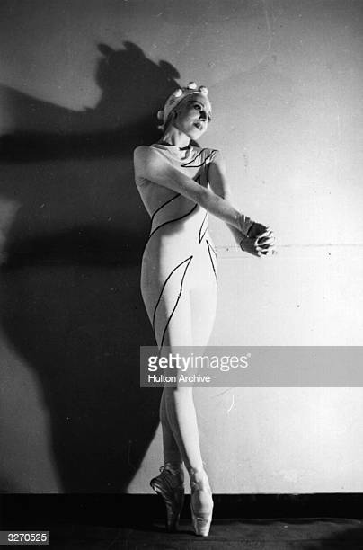English ballet dancer Dame Alicia Markova in a Ballet Russe production of 'Rouge Et Noir' at Monte Carlo, choreographed by Leonid Massine, with...