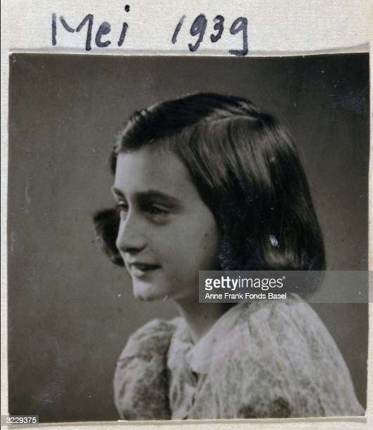 EXCLUSIVE Passport photo of Anne Frank in profile taken from her photo album Amsterdam Holland