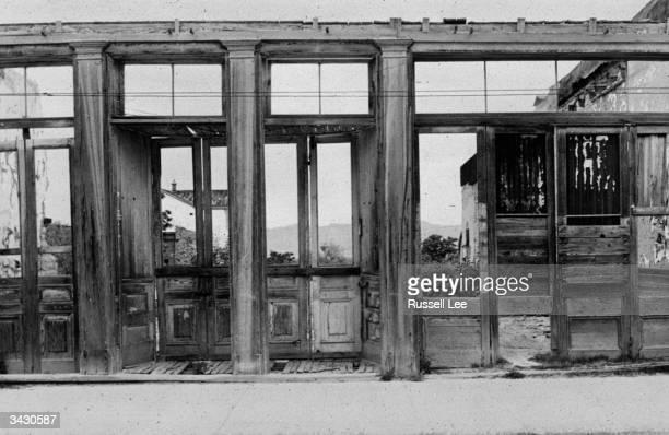 Ruined building in Tombstone, Arizona.