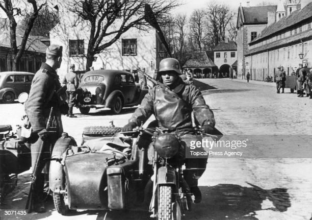 German troops in a street in Copenhagen after the invasion of Denmark
