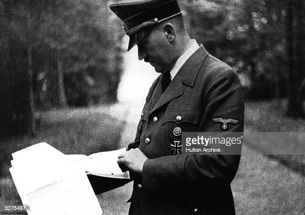 Hitler at his headquarters at BrulydePeche Ardennes Belgium during the campaign of MayJune 1940