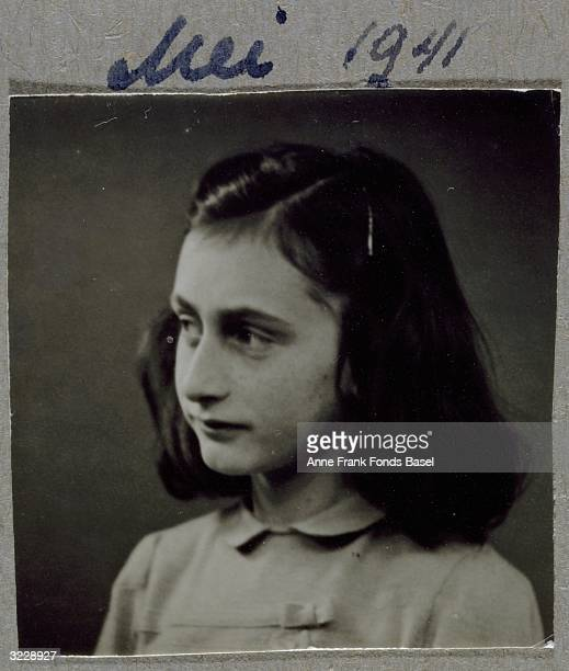 EXCLUSIVE A headshot of Anne Frank looking to the side From Anne Frank's photo album